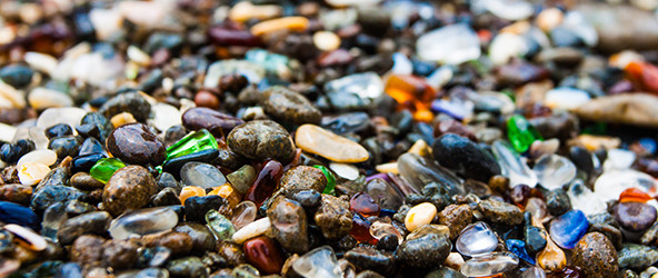 The Glass Beach in California