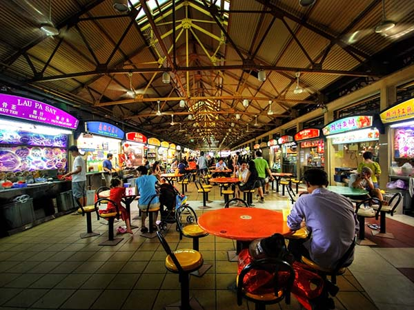 hawker centres, street food