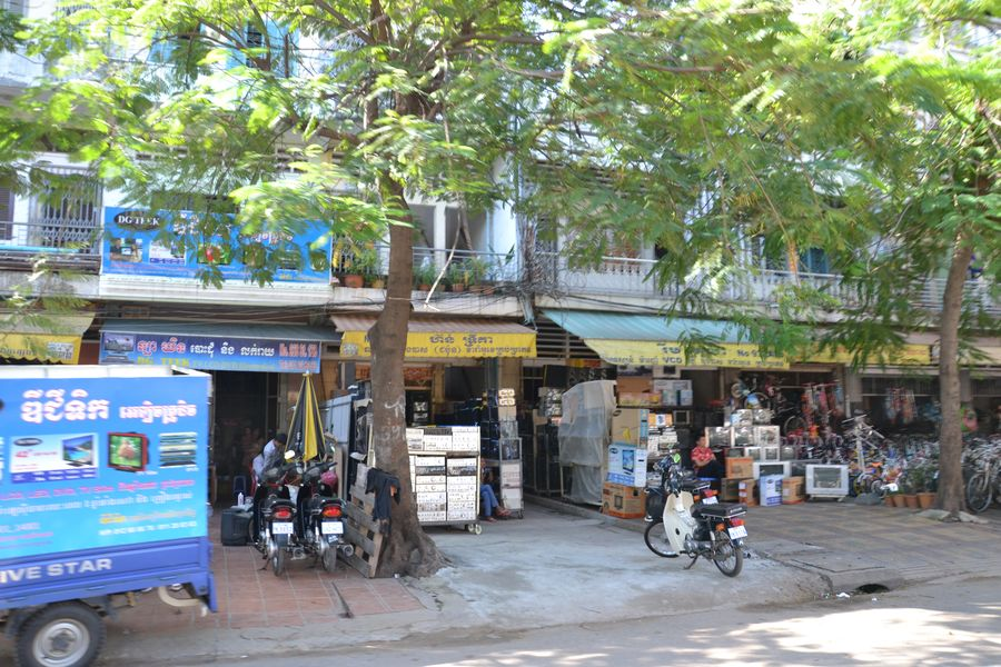 The streets of Phnom Penh Cambodia