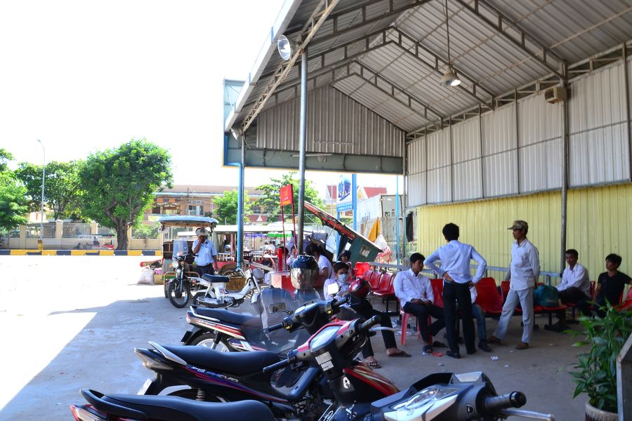 Bus station at Phnom Penh Cambodia