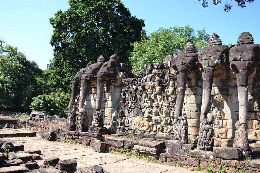 The Elephant terrace Siem Reap Cambodia