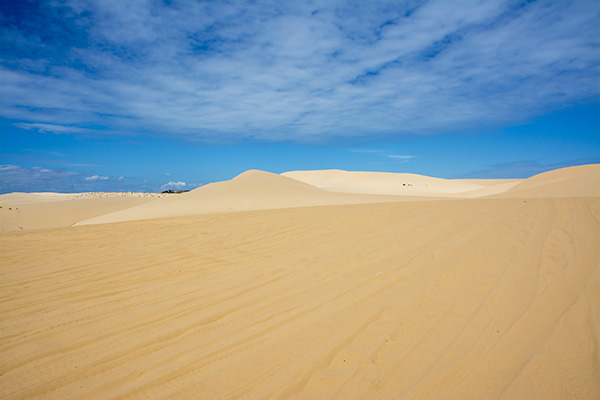 White sand dunes in Vietnam
