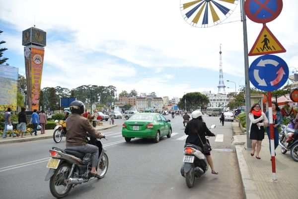 The centre of Dalat, Vietnam