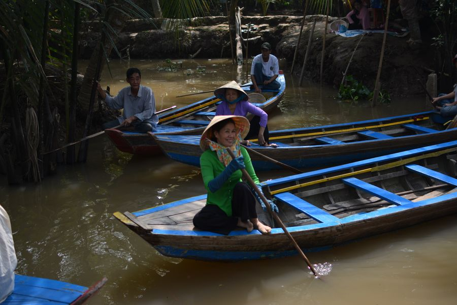 Trip on the Mekong delta in Vietnam